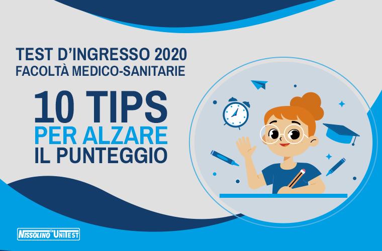 Test d'ingresso 2020 per le facoltà Medico-Sanitarie: 10 tips per alzare il punteggio